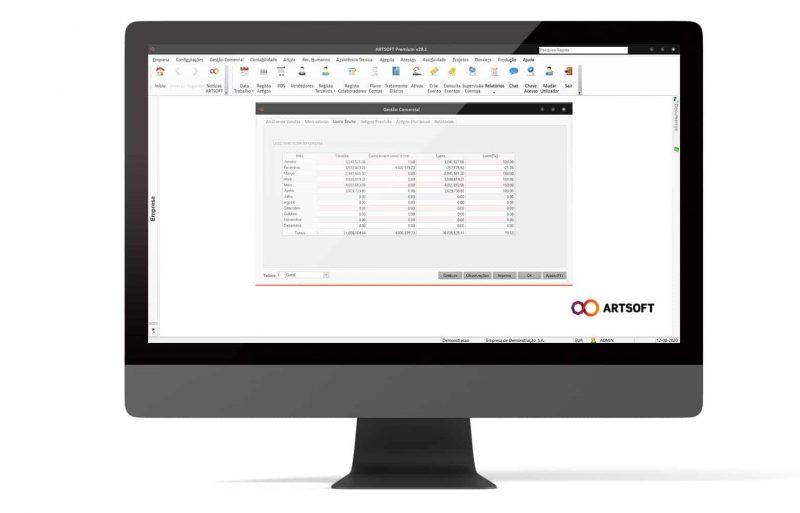 Analise Financeira Software Erp ARTSOFT