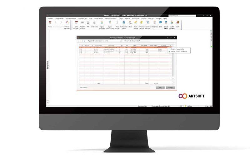 Analise Financeira Software Empresa ARTSOFT