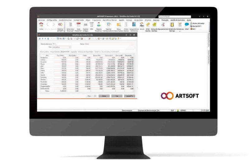 Contabilidade Orcamental Software ERP ARTSOFT