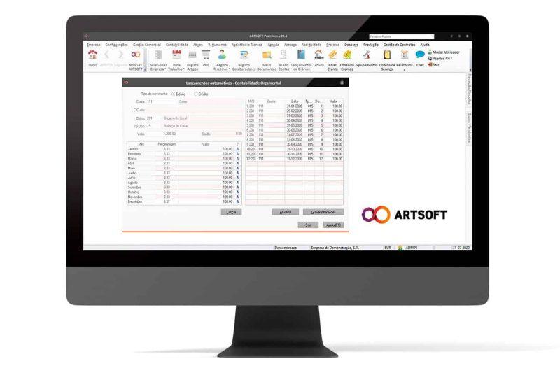 Contabilidade Orcamental Software Gestao ARTSOFT