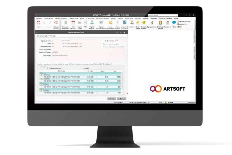 Contratos Gestao Avencas Software ARTSOFT