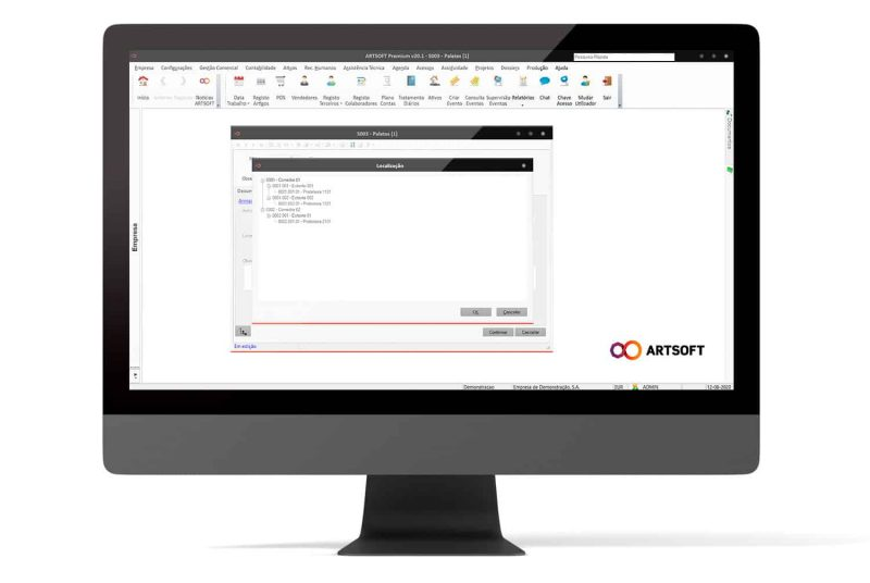 Paletizacao Software Gestao ERP ARTSOFT