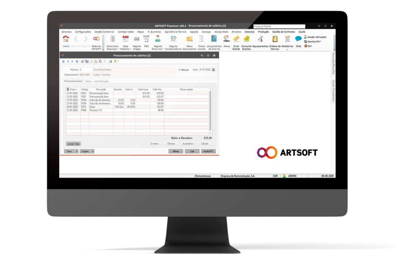 Penhoras Remuneracoes Software ARTSOFT