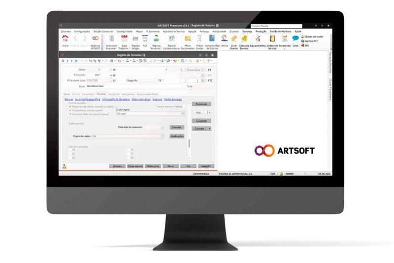 RGPD Software Gestao ARTSOFT