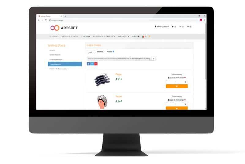Ecommerce Vender Online ERP ARTSOFT