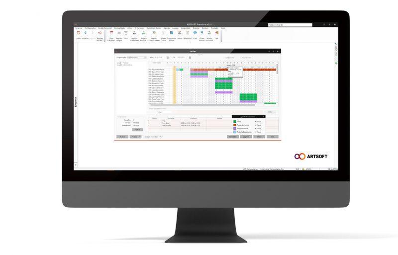 Assiduidades Software Solucao Ferias Escalas ARTSOFT