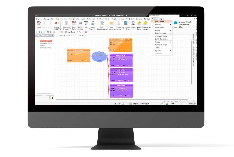 Producao Industria Software Gestao ARTSOFT - ERP Software em Portugal