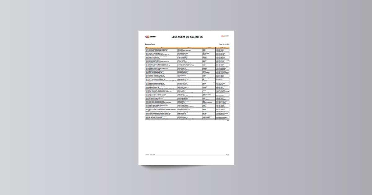 Listagem de Clientes
