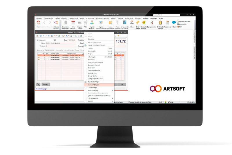 Software de gestão setor carne