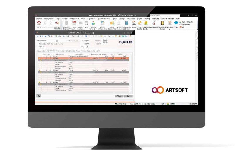 Gestao Residuos Software Certificao EGAR ARTSOFT