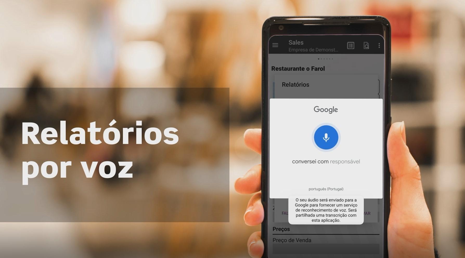 Relatórios por Voz   App Sales