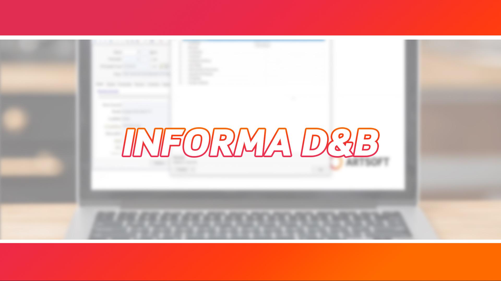 Integração Informa D&B | Disponível a partir do ARTSOFT v20.1