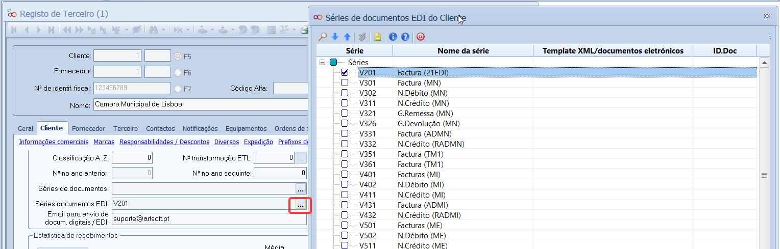 Faturas Eletrónicas por EDI -Parametrização de ficha de cliente
